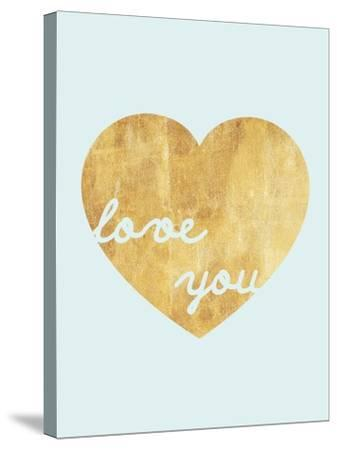 Heart of Gold Love-Miyo Amori-Stretched Canvas Print