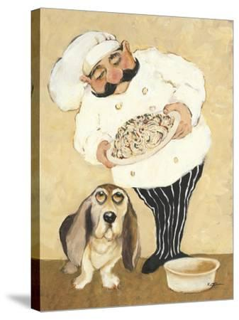 Dogs and Pasta-Carole Katchen-Stretched Canvas Print