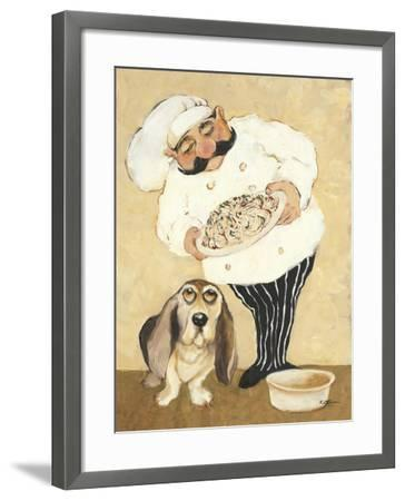 Dogs and Pasta-Carole Katchen-Framed Premium Giclee Print