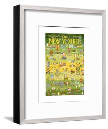 The New Yorker Cover - March 15, 1969-Anatol Kovarsky-Framed Premium Giclee Print
