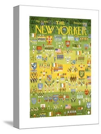 The New Yorker Cover - March 15, 1969-Anatol Kovarsky-Stretched Canvas Print