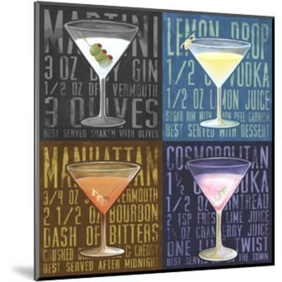 Martini 4-Up-Cory Steffen-Mounted Premium Giclee Print