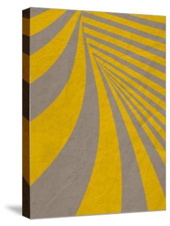 Yellow Swirls B--Stretched Canvas Print