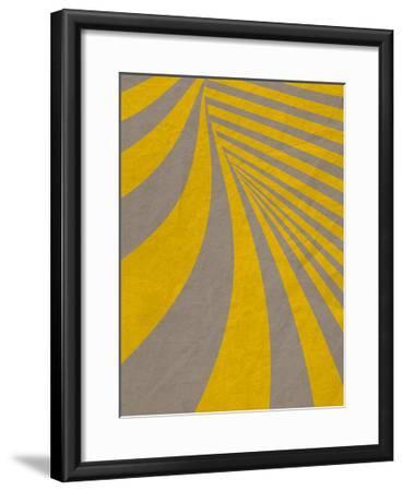 Yellow Swirls B--Framed Premium Giclee Print