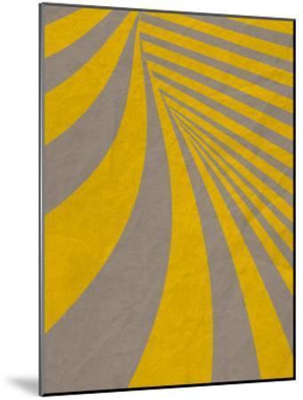 Yellow Swirls B--Mounted Premium Giclee Print