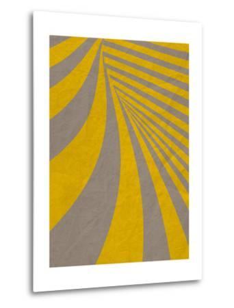 Yellow Swirls B--Metal Print