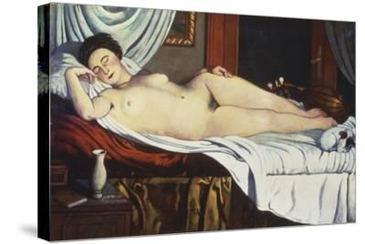 Sleeping Venus, (Naked Woman on a Bed) Woman-Pietro Marussig-Stretched Canvas Print