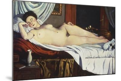 Sleeping Venus, (Naked Woman on a Bed) Woman-Pietro Marussig-Mounted Art Print