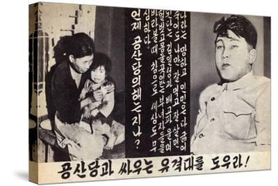 Propaganda Leaflet Distributed by United Nations Forces Lead by U.S. During the Korean War, 1950-53--Stretched Canvas Print