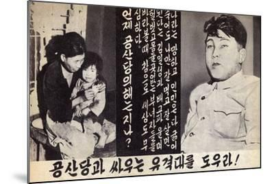 Propaganda Leaflet Distributed by United Nations Forces Lead by U.S. During the Korean War, 1950-53--Mounted Art Print