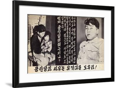 Propaganda Leaflet Distributed by United Nations Forces Lead by U.S. During the Korean War, 1950-53--Framed Art Print