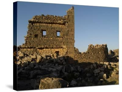 3rd House at Umm El-Jimal, Built During Byzantine Period, 5th-6th C--Stretched Canvas Print