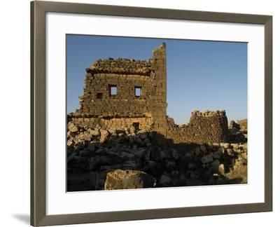 3rd House at Umm El-Jimal, Built During Byzantine Period, 5th-6th C--Framed Photo
