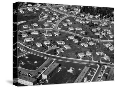 An Aerial View of Housing Development in Oak Ridge, Tennessee, 1955-Ed Westcott-Stretched Canvas Print