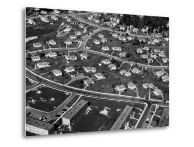 An Aerial View of Housing Development in Oak Ridge, Tennessee, 1955-Ed Westcott-Metal Print