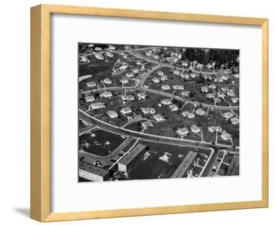 An Aerial View of Housing Development in Oak Ridge, Tennessee, 1955-Ed Westcott-Framed Photo