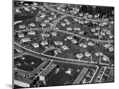An Aerial View of Housing Development in Oak Ridge, Tennessee, 1955-Ed Westcott-Mounted Photo