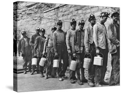 Coal Miners Checking in at Completion of Morning Shift. Kopperston, Wyoming County, West Virginia-Russell Lee-Stretched Canvas Print