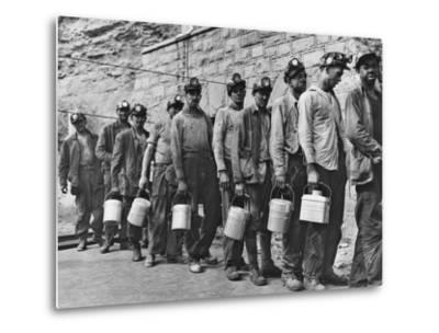 Coal Miners Checking in at Completion of Morning Shift. Kopperston, Wyoming County, West Virginia-Russell Lee-Metal Print