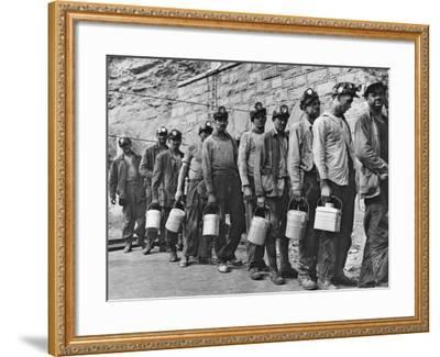 Coal Miners Checking in at Completion of Morning Shift. Kopperston, Wyoming County, West Virginia-Russell Lee-Framed Photo