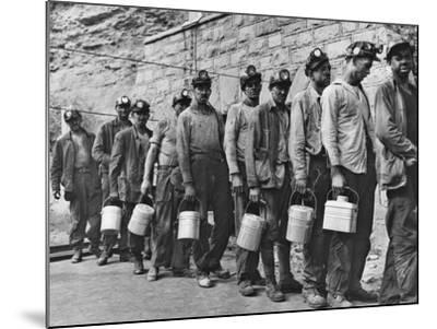 Coal Miners Checking in at Completion of Morning Shift. Kopperston, Wyoming County, West Virginia-Russell Lee-Mounted Photo