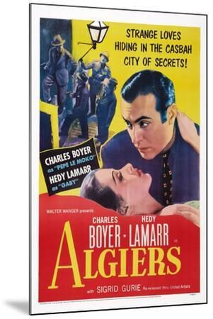 Algiers, from Left: Hedy Lamarr, Charles Boyer, 1938--Mounted Art Print