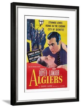 Algiers, from Left: Hedy Lamarr, Charles Boyer, 1938--Framed Art Print