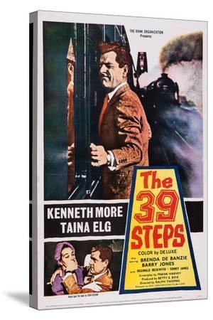 The 39 Steps, Kenneth More (Top), Bottom from Left: Taina Elg, Kenneth More, 1959--Stretched Canvas Print