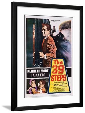The 39 Steps, Kenneth More (Top), Bottom from Left: Taina Elg, Kenneth More, 1959--Framed Art Print