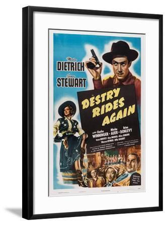 Destry Rides Again, 1939--Framed Art Print