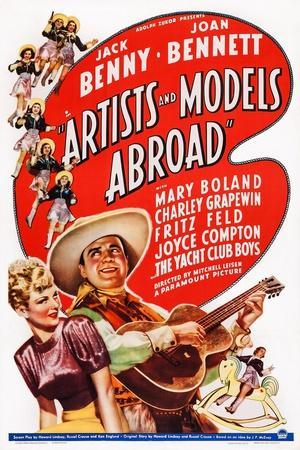 Artists and Models Abroad, Joan Bennett, Jack Benny, 1938--Framed Art Print