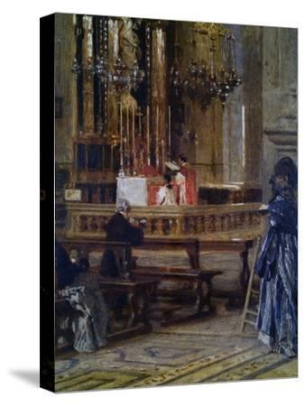 Interior of Church of Santa Maria Presso San Celso-Filippo Carcano-Stretched Canvas Print