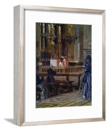 Interior of Church of Santa Maria Presso San Celso-Filippo Carcano-Framed Art Print