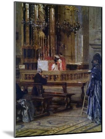 Interior of Church of Santa Maria Presso San Celso-Filippo Carcano-Mounted Art Print