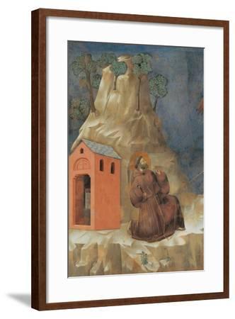 St. Francis Receiving Stigmata-Giotto-Framed Art Print