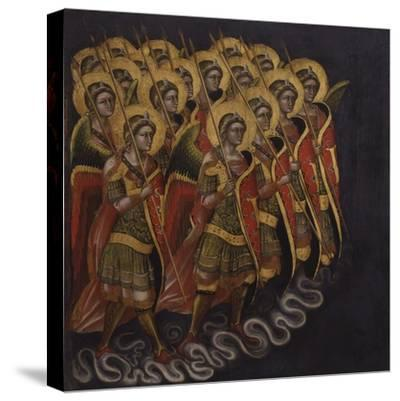 Procession of Armed Angels-Guariento Di Arpo-Stretched Canvas Print