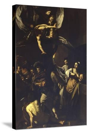 Seven Acts of Mercy-Caravaggio-Stretched Canvas Print