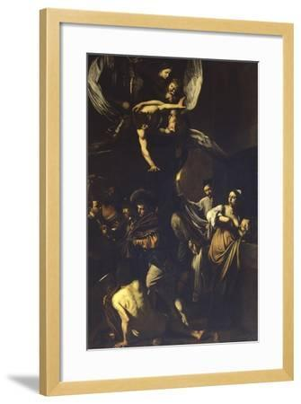 Seven Acts of Mercy-Caravaggio-Framed Art Print