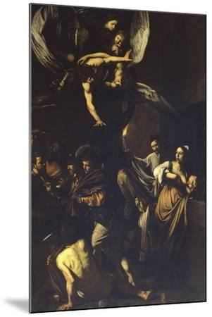 Seven Acts of Mercy-Caravaggio-Mounted Art Print