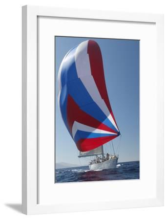 Sailing Boat in Yacht Race--Framed Photo
