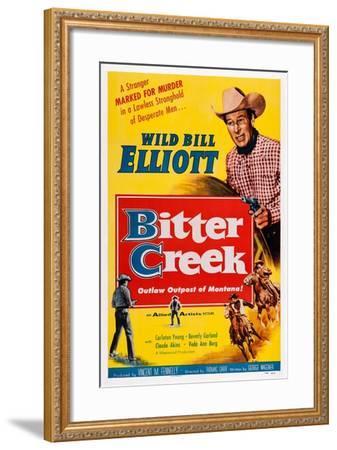 Bitter Creek, Bill Elliott, 1954--Framed Art Print
