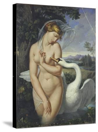 Leda and the Swan-Antonio Raffaele Calliano-Stretched Canvas Print