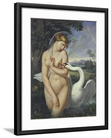 Leda and the Swan-Antonio Raffaele Calliano-Framed Art Print