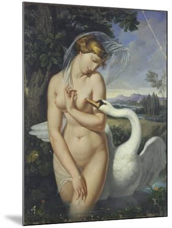 Leda and the Swan-Antonio Raffaele Calliano-Mounted Art Print