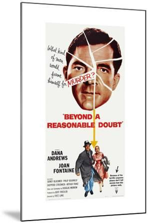 Beyond a Reasonable Doubt, Top: Dana Andrews; Bottom: Dana Andrews, Joan Fontaine, 1956--Mounted Art Print
