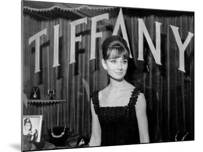 Audrey Hepburn, at a Press Event for Breakfast at Tiffany'S, 1961--Mounted Photo