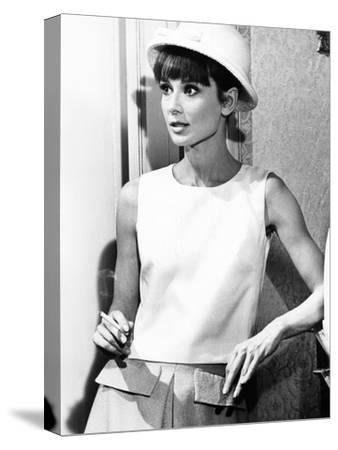Paris When it Sizzles, Audrey Hepburn, 1964--Stretched Canvas Print