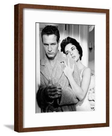 Cat on a Hot Tin Roof, Paul Newman, Elizabeth Taylor, 1958--Framed Photo