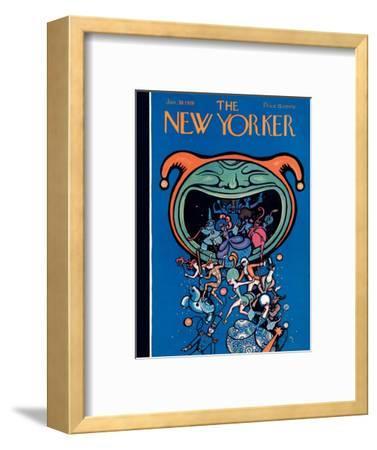 The New Yorker Cover - January 30, 1926-Rea Irvin-Framed Premium Giclee Print