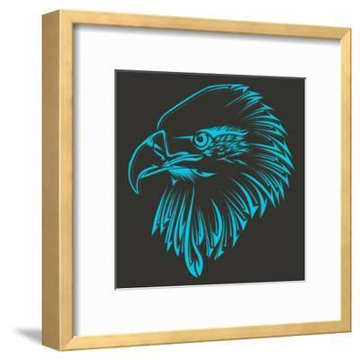 Bird Tribal Tattoo- achupret-Framed Art Print